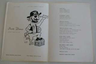 Fairstar  Sitmar Line Pirate Dinner Menu