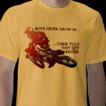 Bigger Toys Dirt Bike Motocross Funny Shirt t shirts by allanGEE