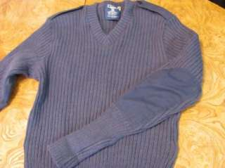 Mens Blue Citadel Wool Sweater Air Force Military Uniform 42