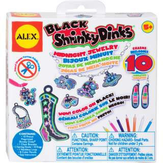 ALEX Toys   Shrinky Dinks Jewelry Kit, Black Midnight