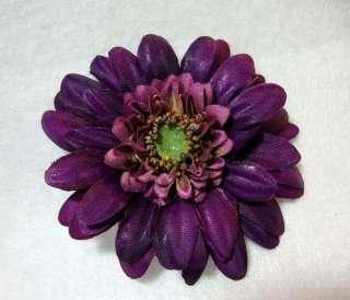 Small Purple Daisy Flower Hair Clip