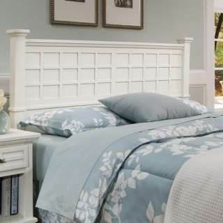 Home Styles Arts and Crafts Headboard in White Furniture