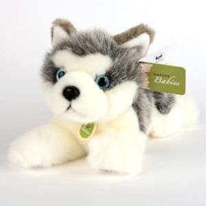 AURORA NATURE BABY Siberian Husky PLUSH STUFFED animal