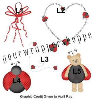 RED LADYBUG BABY SHOWER Bubble Label Favors BIRTHDAY