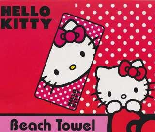 Hello Kitty Beach Towel 100% Cotton Happy Kitty Brand New 087918416765