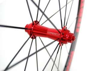 STRADALLI CARBON ROAD BIKE WHEELSET BICYCLE WHEELS RED