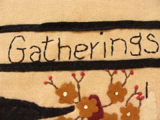 Primitive Country Gatherings Crow Table Runner 36