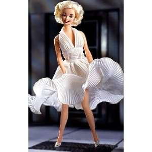 Barbie As Marilyn Monroe Doll Mattel   White Dress Toys & Games