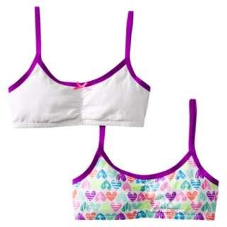 ® Girls 2 Pack Hearts Crop Bra   Gray/Green.Opens in a new window