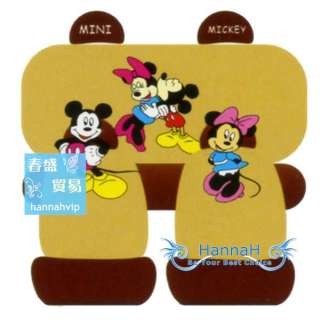 10pcs Mickey & Minnie Mouse CAR SEAT COVERS FA139 267