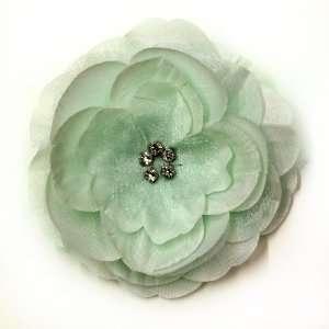 Rhinestone Fabric Flower Hat Hair Clip & Pin Brooch F10978 Beauty