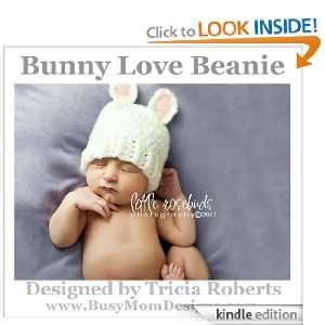 Crochet Pattern   Bunny Love Beanie   Hat Pattern by Busy Mom Designs