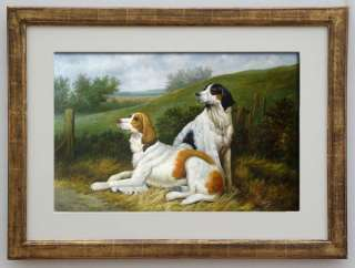 OIL PAINTINGTWO DOGS AT THE ROAD 24x36 (60X90CM), Date of Creation