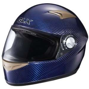 Snell Full Face Motorcycle Street Helmet Carbon Blue Large Automotive