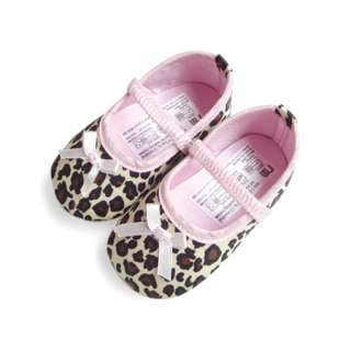 Infant Baby Girls Leopard Print Mary Jane Shoes 3 12M SA129