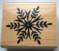 Rubber Stamp Snowflake Crystal by Penny Black Christmas Winter