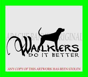 WALKER Hound Dog Coon Hunting LARGE Decal Truck 1998XL