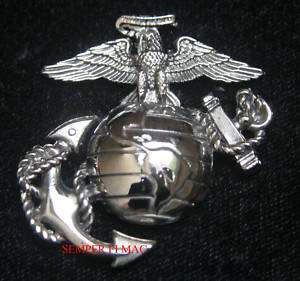US MARINES CORPS EAGLE GLOBE ANCHOR PIN SILVER EGA