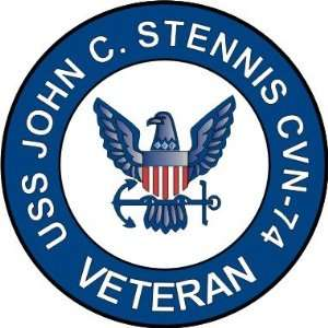 US Navy USS John C. Stennis CVN 74 Ship Veteran Decal