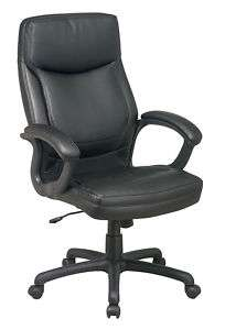 Executive High Back Leather Office Chair   4 Colors