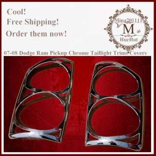 07 08 Dodge Ram Pickup Chrome Taillight Trims Covers
