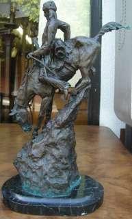 FREDERIC REMINGTON BRONZE SCULPTURE Mountain Man Art