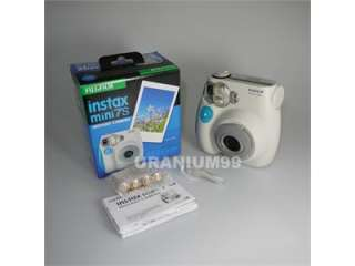 Fuji Fujifilm Instax Mini 7S Photo Picture Camera Blue Strap +50 White