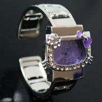 New Purple HelloKitty Lady Girl Crafts Bracelet Wrist Watch, T46 PL