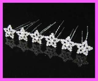 pcs Wedding/Bridal crystal hair pins CR116