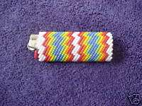 Hand Beaded Peyote Stitch Cigarette Lighter Cover