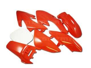 RED Plastic 7pc Kit PIT BIKE DIRT BIKES Honda XR50