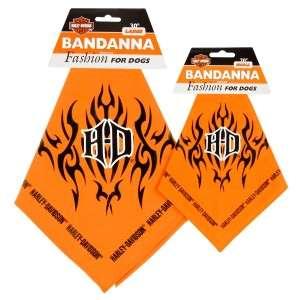 Harley Davidson Orange Dog Puppy Bandana Large