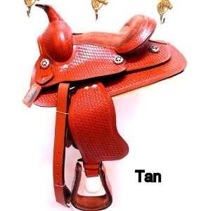 10 Honey Tan Leather Western Pony Saddle