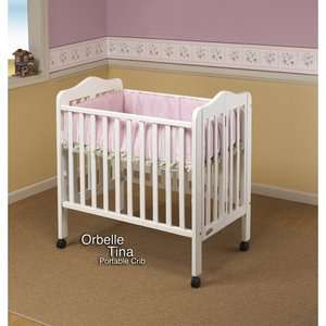 Orbelle Trading Three Level Portable Crib in White