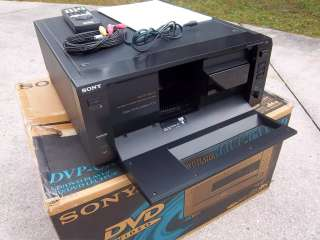 Sony DVP CX850D 200 Disc CD/DVD Changer with manual, remote, cables
