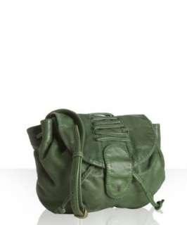 Frye green leather Softie crossbody saddle bag
