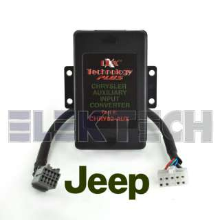 JEEP DIRECT AUX RCA AUDIO INPUT RADIO ADAPTER INTERFACE