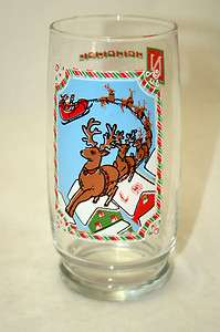 1982 Pepsi Christmas Collection Santa Claus and his Reindeer Drinking