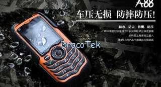 A88 Orange   Rugged IP67 grade Waterproof dual SIM outdoor cell phone