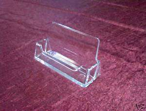 Clear plastic business card display holder (singles)