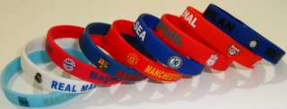 Football Team Silicone Bracelet Multi Color Soccer Club Sport Rubber