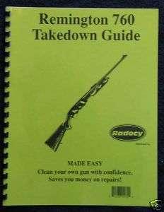 Remington 760 7600 Pump Rifles Takedown Guide Radocy