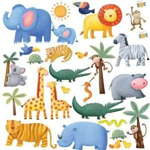 Jungle Adventure Peel & Stick Easy Wall Decals