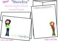 Custom Personalized SWEETEZ Girly Note Cards Stationery