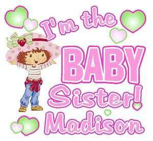STRAWBERRY SHORTCAKE BABY SISTER T SHIRT DECAL CUSTOM