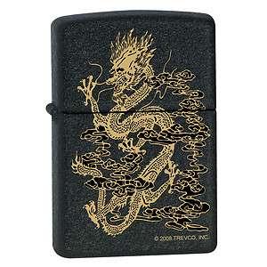 Zippo Lighter   Dragon Smoke Black Matte Z16250