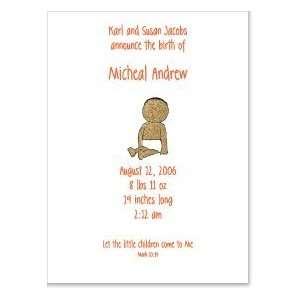African American Baby Birth Announcement: Baby